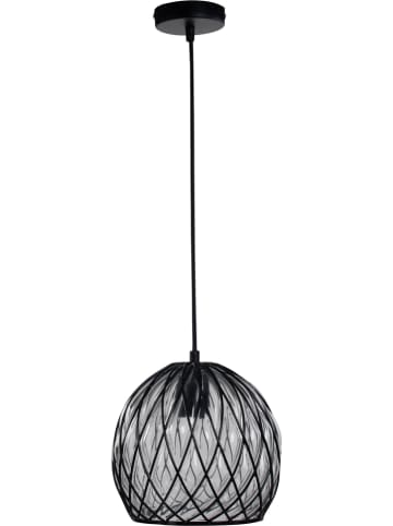 "ACTIOn by WOFI Hanglamp ""Fiore"" zwart/transparant - Ø 23,5 cm"