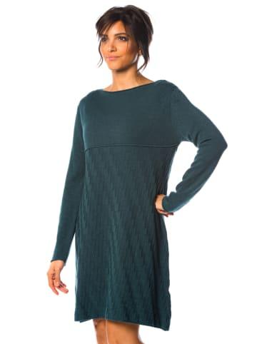 """So Cachemire Sukienka """"Hindy"""" w kolorze morskim"""