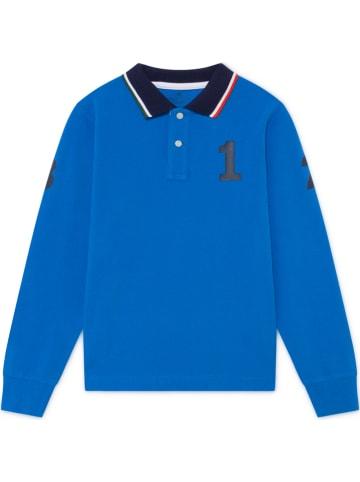Hackett London Koszulka polo w kolorze niebieskim
