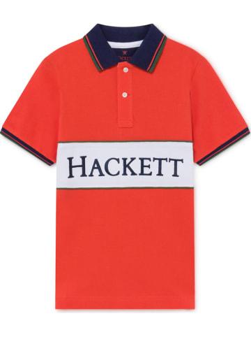 Hackett London Poloshirt in Rot
