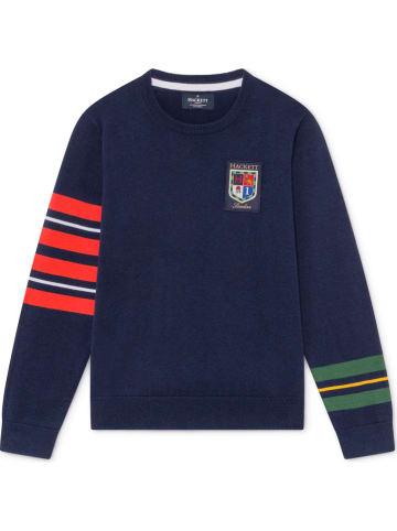 Hackett London Sweter w kolorze granatowym