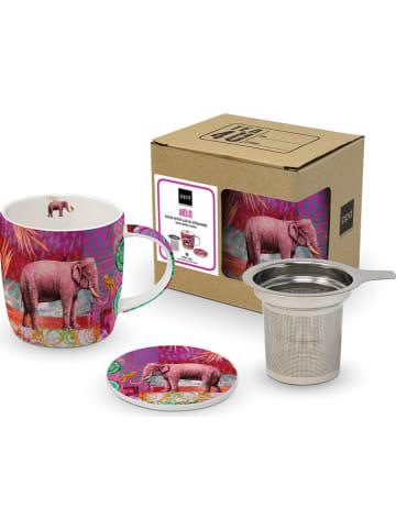 "Tee-Zeit mit ppd Jumbotasse ""India"" in Pink/ Lila - 350 ml"