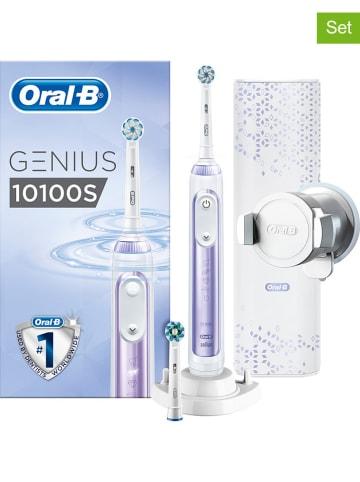 """Oral-B 7tlg. Set: """"Oral B Genius 10100S"""" in Weiß/ Lila"""