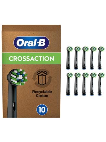 """Oral-B 10er-Set: Ersatz-Bürstenköpfe """"Cross Action CleanMaximizer"""" in Schwarz/ Grün"""