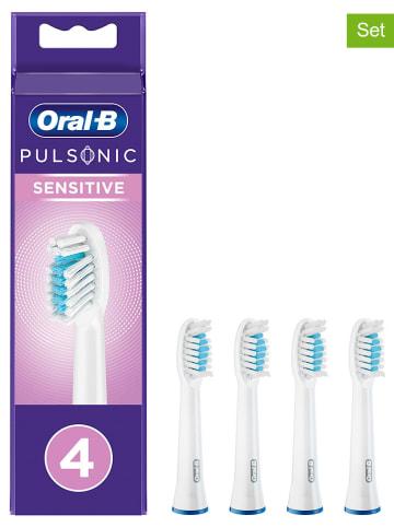"""Oral-B 4er-Set: Ersatz-Bürstenköpfe """"Pulsonic Sensitive"""" in Weiß"""