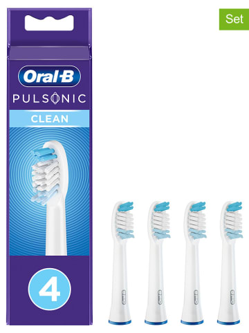 "Oral-B 4-delige set: opzetborstels ""Pulsonic Clean"" wit"