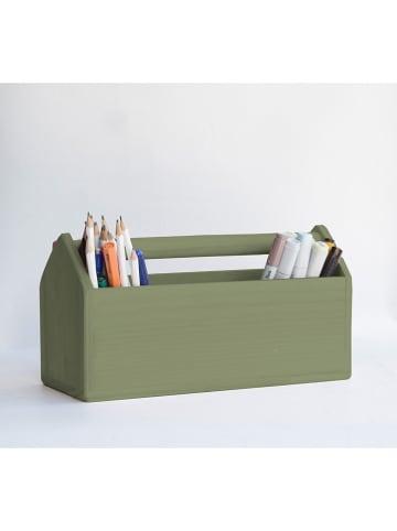 Madre Selva Kids Organizer biurkowy w kolorze zielonym - 24 x 14,5 x 14 cm