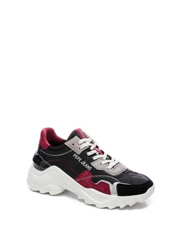Pepe Jeans Sneakersy w kolorze czarno-czerwonym