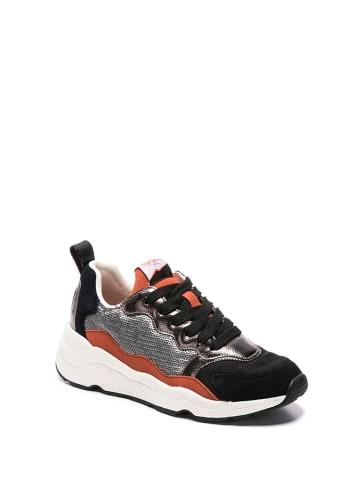 Pepe Jeans Sneakersy w kolorze srebrno-czarnym