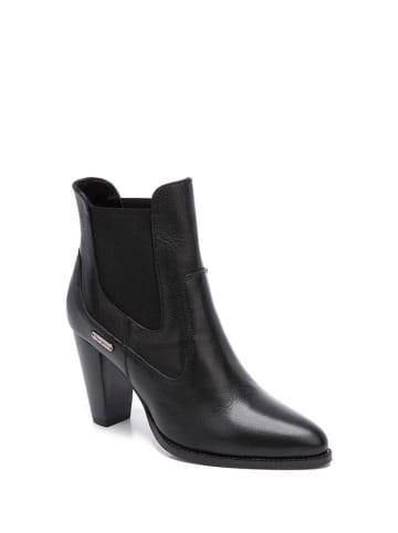Pepe Jeans Skórzane strzyblety w kolorze czarnym