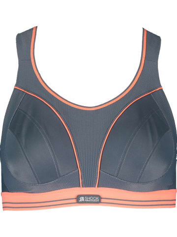 Shock Absorber Sport-BH in Grau/ Orange - High