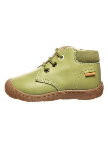 Primigi Leder-Schnürschuhe in Grün