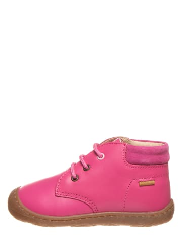 Primigi Skórzane buty w kolorze fuksji do nauki chodzenia