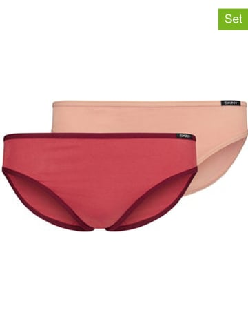 Skiny 2-delige set: slips rood/lichtroze