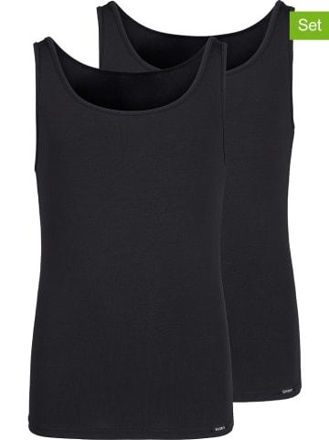 Skiny Podkoszulki (2 szt.) w kolorze czarnym