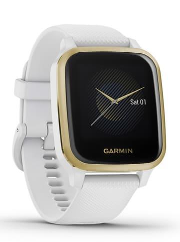 "Garmin GPS-Fitness-Smartwatch ""Venu Sq NFC"" in Weiß/ Gold/ Schwarz"