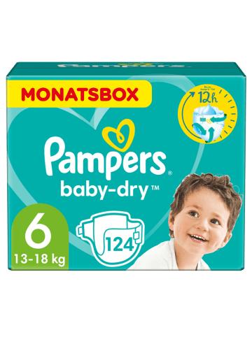 "Pampers Monatspackung Windeln ""Baby Dry"", Gr. 6, 13-18 kg (124 Stück)"
