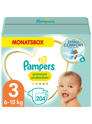 "Pampers Monatspackung Windeln ""Premium Protection"", Gr. 3, 6-10 kg (204 Stück)"