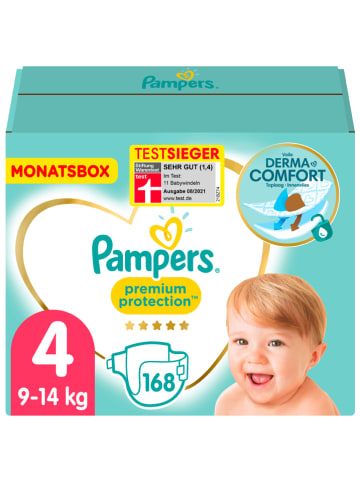 "Pampers Monatspackung Windeln ""Premium Protection"", Gr. 4, 9-14 kg (168 Stück)"