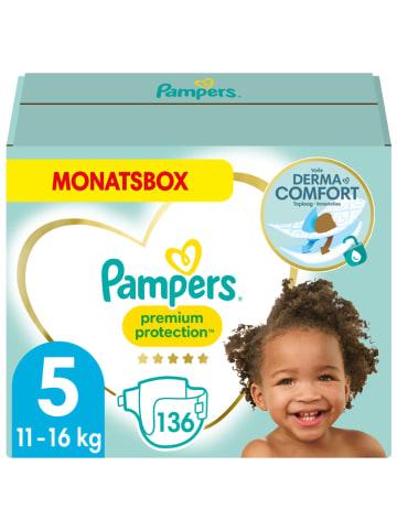 """Pampers Maandpak luiers """"Premium Protection"""", gr. 5, 11-16 kg (136 stuks)"""