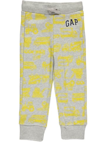 GAP Sweathose in Grau/ Gelb