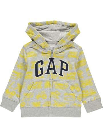 GAP Sweatvest grijs/geel