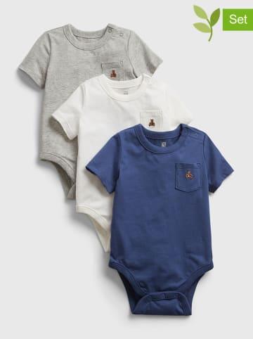 GAP Body (3 szt.) w kolorze niebieskim, szarym i białym