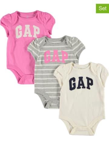 GAP Body (3 szt.) w kolorze różowym, szarym i białym