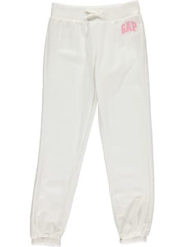 GAP Spodnie dresowe w kolorze białym
