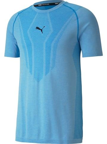 """Puma Functioneel shirt """"Train Evo Knit"""" lichtblauw"""