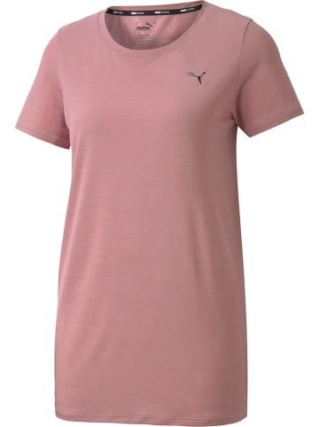 """Puma Koszulka sportowa """"Studio Lace Keyhole"""" w kolorze szaroróżowym"""
