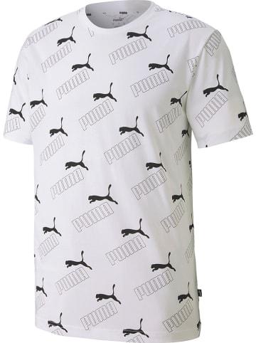 """Puma Koszulka """"Amplified AOP"""" w kolorze białym"""