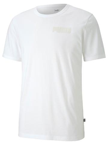 """Puma Koszulka """"Modern Basics"""" w kolorze białym"""