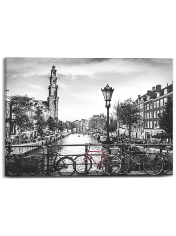 """Orangewallz Druk """"Amsterdam Canal"""" na płótnie - 70 x 50 cm"""
