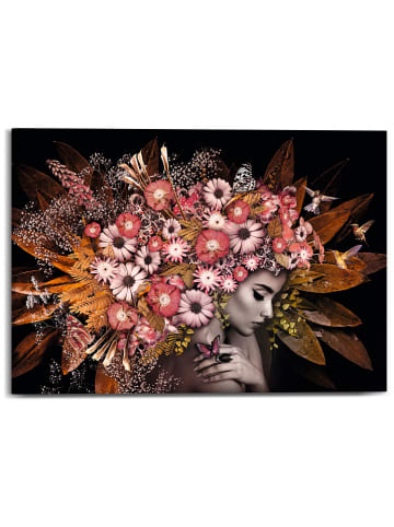 "Orangewallz Kunstdruk op canvas ""Floralis"" - (B)70 x (H)50 cm"
