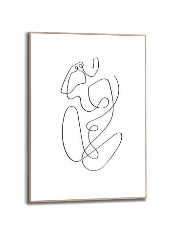 """Orangewallz Druk artystyczny """"Bodylines"""" w ramce - 50 x 70 cm"""