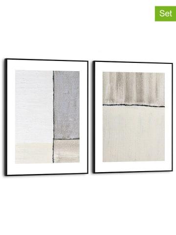 """Orangewallz 2-delige set: ingelijste kunstdrukken """"Abstract Pastels"""" - (B)30 x (H)40 cm"""