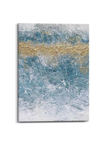 "Orangewallz Kunstdruk op canvas ""Golden Glacier I"" - (B)50 x (H)70 cm"