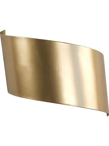 """Tosel Wandlamp """"Vira"""" goudkleurig - (B)12 x (H)26 cm"""