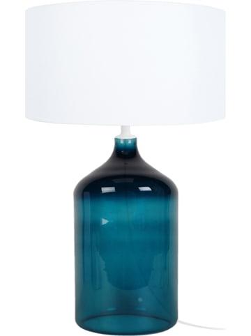 "Tosel Tafellamp ""Reflexion"" wit/petrol - (H)39 cm"