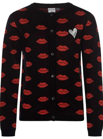 """Retour Vest """"Kelice"""" zwart/rood"""