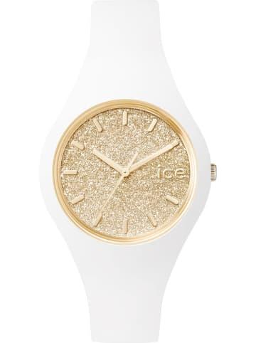 """Ice Watch Quarzuhr """"Glitter"""" in Weiß/ Gold"""