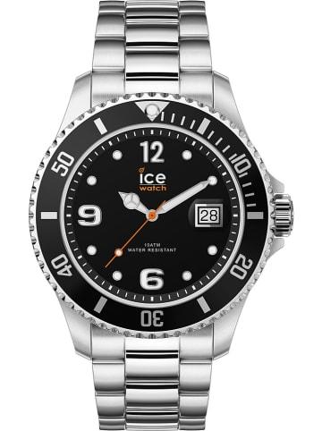 "Ice Watch Zegarek kwarcowy ""Steel"" w kolorze srebrno-czarnym"