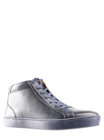 Gino Rossi Leren sneakers donkerblauw