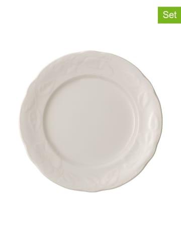 """Villeroy & Boch Talerz obiadowy """"Rose Sauvage"""" (6 szt.) w kolorze białym - Ø 26 cm"""
