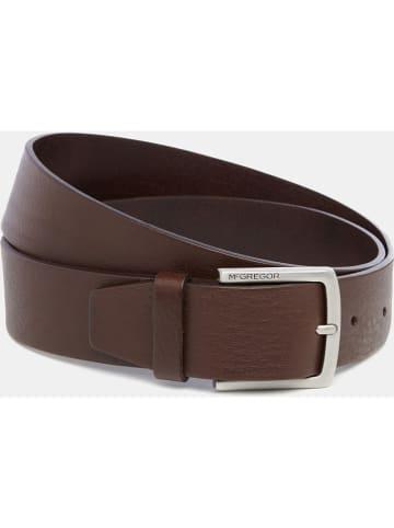 McGregor Leder-Gürtel in Braun