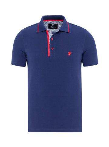 CULTURE Koszulka polo w kolorze niebieskim