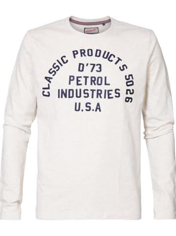 Petrol Industries Koszulka w kolorze kremowym