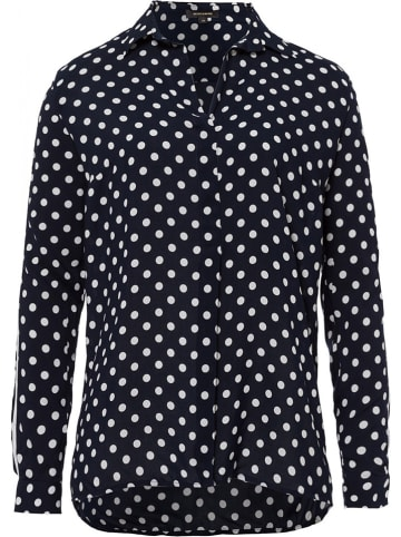 More & More Blouse donkerblauw/wit
