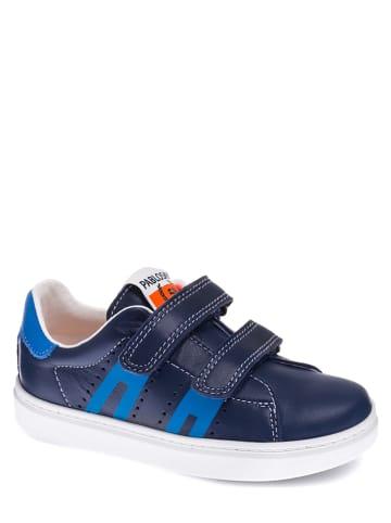 Pablosky Leder-Sneakers in Dunkelblau